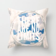 There Are No Limits Throw Pillow