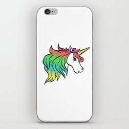 "A Perfect Gift Tee With An Illustration Of A Unicorn ""Be A Unicorn Not A Twatopotamus"" T-shirt iPhone Skin"