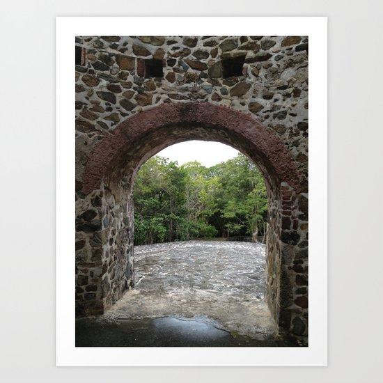 Virgin Islands, Sugar Mill Stone Ruins, St. John, USVI Art Print