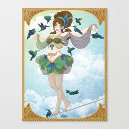 Pin'up et colibris Canvas Print