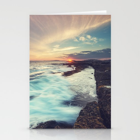 Setting over Surf Stationery Cards
