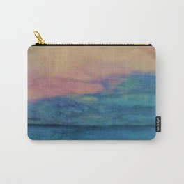 Blue Horizon Pink Clouds Carry-All Pouch