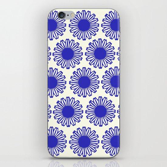 vintage flowers blue  iPhone & iPod Skin