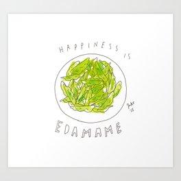 Happiness is Edamame Art Print
