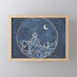 Night Court moon and stars Framed Mini Art Print