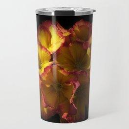 the colors of spring - primula Travel Mug