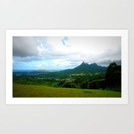 oahu green Art Print