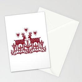 Scandinavian Reindeer Papercut Stationery Cards