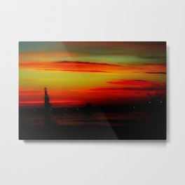 Morning at the Harbour Metal Print