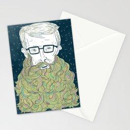 Hipster Beards Stationery Cards