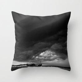 Dutch Clouds - Scheveningen, The Netherlands Throw Pillow