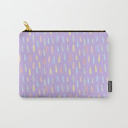 Modern violet teal yellow watercolor brushstrokes pattern Carry-All Pouch