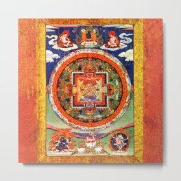 Mandala Buddhist 1 Metal Print