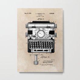 patent art typewriter Metal Print