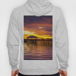 Gulf Coast Sunset over Biloxi Bay Hoody