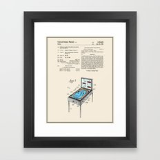 Pinball Machine Patent - Colour Framed Art Print