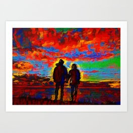 Our Last Date Art Print