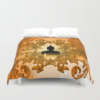 buddha Duvet Covers featuring Buddha  by nicky2342