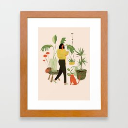 Migrating a Plant Framed Art Print