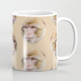 funny cute japanese macaque monkey pattern Coffee Mug