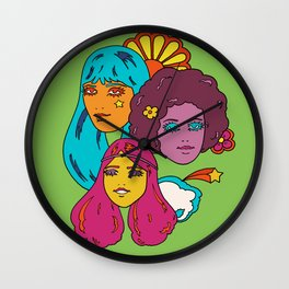 Rainbow Girls Wall Clock