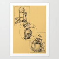 It's the Beginning of the One Big Story. Robots' Adventures Art Print