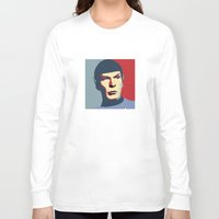 spock Long Sleeve T-shirts featuring Spock by Blueshift