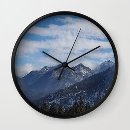 The Mountains of Lake Tahoe Wall Clock
