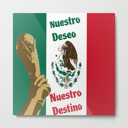 Mexico Football Cup Champions Metal Print