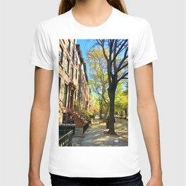 Cobble Hill Brooklyn New York in the Fall, Brownstones T-shirt