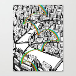 Beautiful tokko city Canvas Print