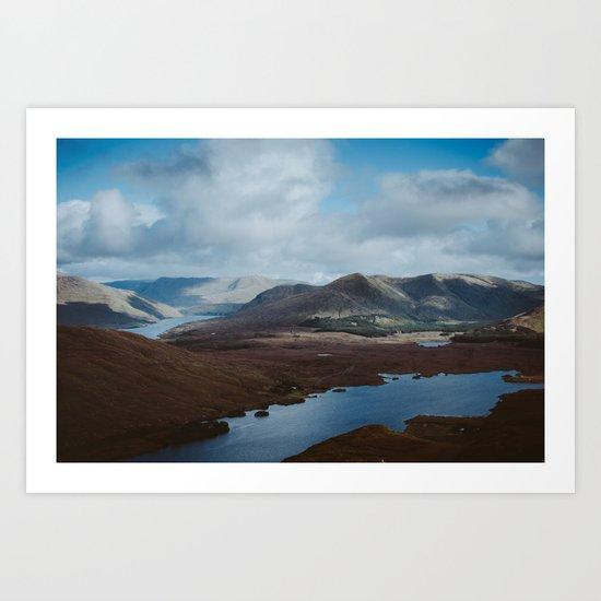 The Hills of Connemara, Ireland Art Print