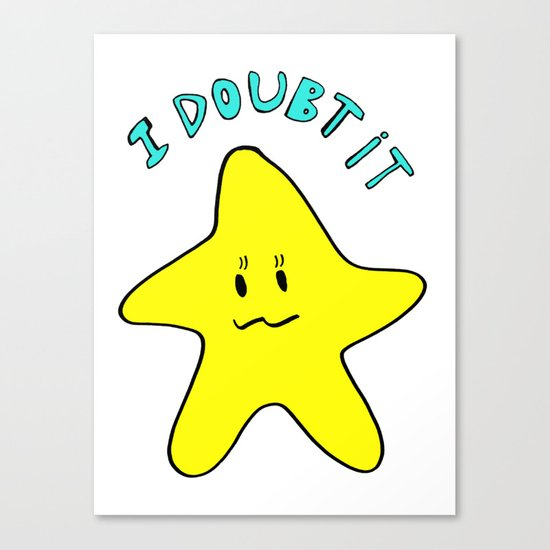 Skeptical star Canvas Print
