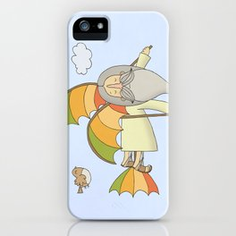 Da Vinci and his Flying Machine iPhone Case