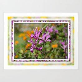 PASTEL PURPLE FLOWER  Art Print