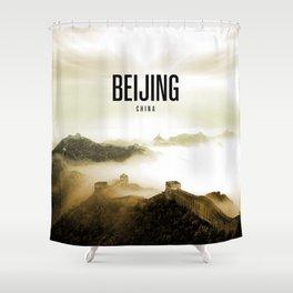 Beijing Wallpaper Shower Curtain