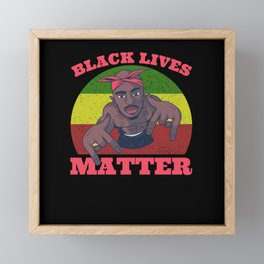 Black Lives Matter Movement For Human Rights Framed Mini Art Print