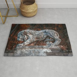 Marble Lion Rug