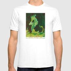 Sea Dragon MEDIUM White Mens Fitted Tee