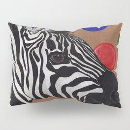 Zebra and Bubbles Pillow Sham