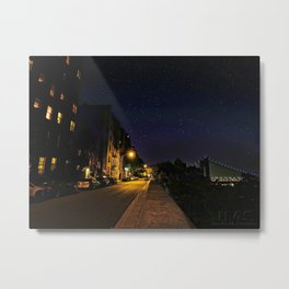 Starry Night in the Heights Metal Print