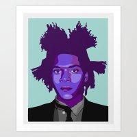 basquiat Art Prints featuring Basquiat by Grace Teaney Art