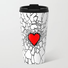 Heartbreaker III White Travel Mug