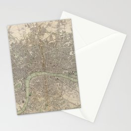 Vintage Map of London England (1843) Stationery Cards