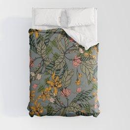 blooming flower botanical Comforters