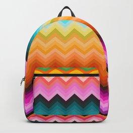 Chevron design fashion 90s Backpack