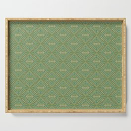 Green Patch Serving Tray