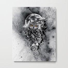 OWL BW Metal Print