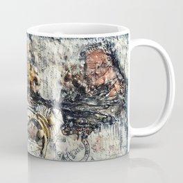 Metallic Melodrama III - Mixed Media Beeswax Encaustic Acrylic Abstract Modern Fine Art, 2015 Coffee Mug