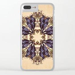 Blackbird and Belladonna Mandala Clear iPhone Case